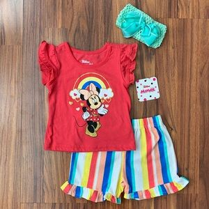 Disney Girls Minnie Mouse Short Set Size 24 months